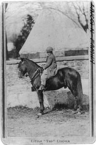 tad on horse